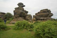 Formazione rocciosa di Brimham Immagini Stock