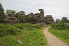 Formazione rocciosa di Brimham Fotografia Stock