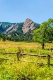 Formazione rocciosa di ferri da stiri Boulder Colorado Immagini Stock Libere da Diritti