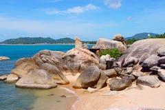 Formazione rocciosa di Hin l'AT a Ko Samui, Tailandia immagini stock