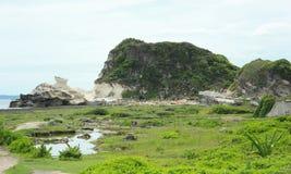 Formazione rocciosa di Ilocos Kapurpurawan Fotografia Stock