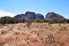 Formazione rocciosa di Kata Tjuta dell'Australia centrale Fotografia Stock