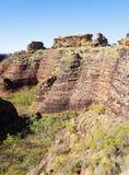 Formazione rocciosa di Mirima vicino a Kunururra Fotografie Stock