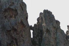 Formazione rocciosa dispari sulla traccia di escursione, Corse, Francia Fotografie Stock