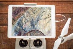 Formazione rocciosa ed insenatura - vista aerea Fotografia Stock Libera da Diritti