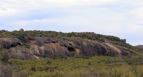 Formazione rocciosa erosa in Cape le Grand Immagini Stock