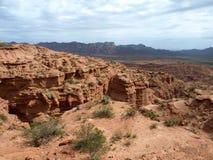 Formazione rocciosa geologica in argentina Immagini Stock