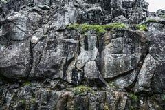 Formazione rocciosa islandese fotografia stock