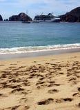 Formazione rocciosa laterale dell'oceano Cabo San Lucas, Messico Fotografie Stock