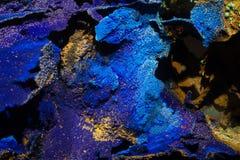 Formazione rocciosa minerale dell'azzurrite Fotografie Stock