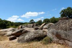 Formazione rocciosa naturale - Beglic Tash Bulgaria Fotografia Stock