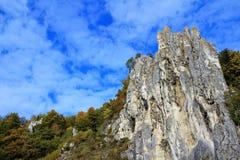 Formazione rocciosa nel parco naturale hltal del ¼ di Altmà Fotografia Stock Libera da Diritti