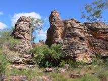 Formazione rocciosa nella riserva di conservazione di Caranbirini nel Territorio del Nord dell'Australia Fotografie Stock Libere da Diritti