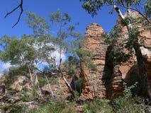 Formazione rocciosa nella riserva di conservazione di Caranbirini nel Territorio del Nord dell'Australia Fotografia Stock Libera da Diritti