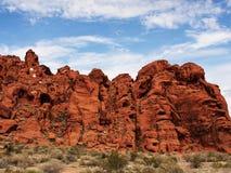 Formazione rocciosa nella valle di fuoco Immagine Stock