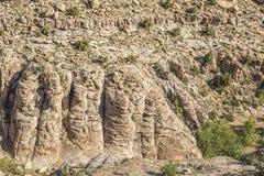Formazione rocciosa nera del canyon del drago fotografia stock libera da diritti
