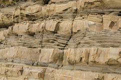 Formazione rocciosa sedimentaria Fotografia Stock Libera da Diritti