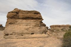 Formazione rocciosa stratificata Immagine Stock