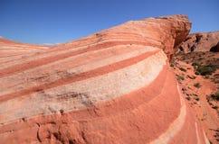 Formazione rocciosa a strisce dell'arenaria di Wave del fuoco Fotografie Stock