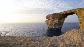 Formazione rocciosa su Malta, Europa stock footage