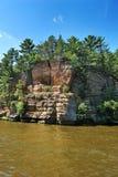 Formazione rocciosa sui Dells del Wisconsin Fotografie Stock