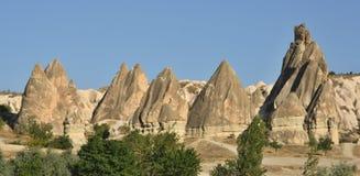 Formazione rocciosa tipica in Cappadocia immagini stock libere da diritti