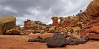 Formazione rocciosa unica sulla traccia del canyon di Cohab Fotografia Stock Libera da Diritti