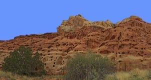 Formazione rocciosa unica sulla traccia del canyon di Cohab Fotografia Stock