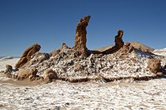 Formazione rocciosa in valle della luna, Atacama Fotografia Stock Libera da Diritti