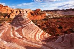 Formazione rocciosa variopinta dell'arenaria rossa immagini stock