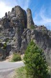 Formazione rocciosa verticale Fotografie Stock