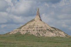 Formazione rocciosa verticale Roccia del camino fotografia stock libera da diritti