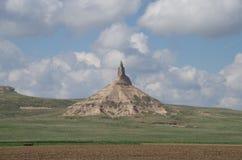Formazione rocciosa verticale Roccia del camino fotografie stock