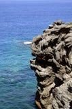 Formazione rocciosa vulcanica della costa di Callao Salvaje Fotografia Stock