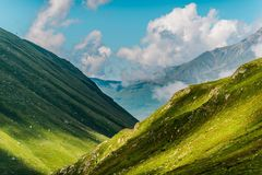 Formazione scenica delle montagne Immagine Stock
