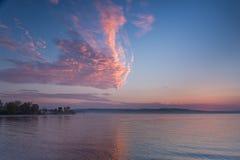 Formazione unica della nube Fotografia Stock