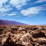 Formazioni dell'argilla del sale di Death Valley del campo da golf dei diavoli Fotografie Stock Libere da Diritti