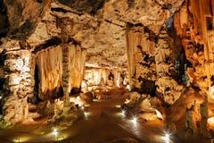 Formazioni della caverna del calcare Fotografie Stock Libere da Diritti