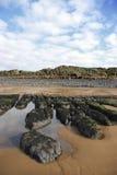 Formazioni della spiaggia Fotografia Stock