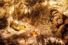 Formazioni dello Stalagmite e dello Stalactite nella caverna Fotografia Stock Libera da Diritti