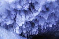 Formazioni di ghiaccio della caverna immagini stock libere da diritti