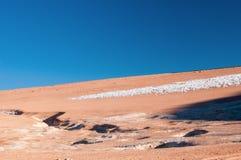 Formazioni di ghiaccio di Penitentes Immagini Stock