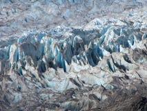 Formazioni di superficie del ghiacciaio di Mendenhall Fotografia Stock