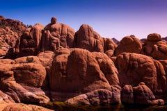 Formazioni di Watson Lake Granite Dells Rock Fotografia Stock Libera da Diritti