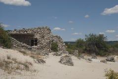Formazioni e sabbia di Rck Fotografia Stock
