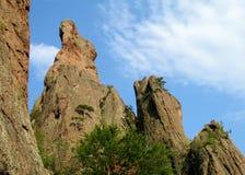 Formazioni geologiche di torri della roccia Fotografia Stock Libera da Diritti