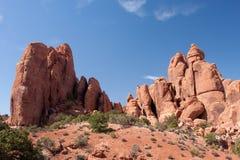 Formazioni rocciose alla sosta nazionale degli archi Immagine Stock Libera da Diritti