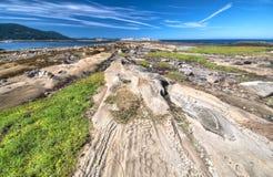 Formazioni rocciose dell'arenaria, isola del cavolo Fotografia Stock Libera da Diritti