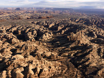 Formazioni rocciose in deserto immagine stock