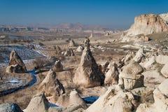 Formazioni rocciose di Cappadocia Immagini Stock